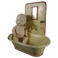 Tin Painted Bath Tub with Spigot
