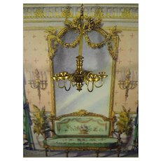 Doll House Chandelier with Six Arms