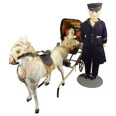 "5"" Doll House Bisque Doorman  Chauffeur Porter"