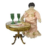"4"" Black Hair China Doll"