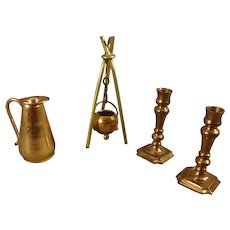 Group of Miniature Doll House Copper Items