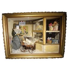 Wonderful Millinery Shop Shadow Box