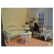 Lovely Corner Room Box with Furnishings