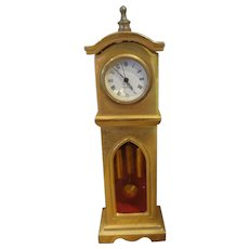 "Miniature 4 1/2"" Tall Case Clock"