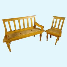Schneegas Bench and Chair for Doll House