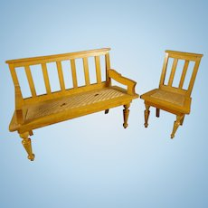 Schneegas Bench and Chair