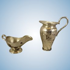 Miniature Silver Gravy and Pitcher