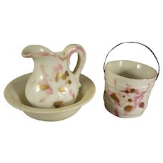 Miniature Pitcher, Bowl and Bucket