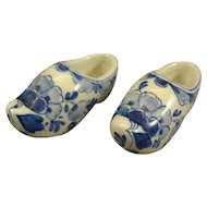 Delft Miniature Porcelain Shoes
