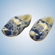 Delft Miniature Porcelain Shoes