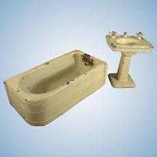 Arcade Cast Iron Bath Tub and Sink