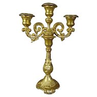 Miniature Gilt Metal Candelabra