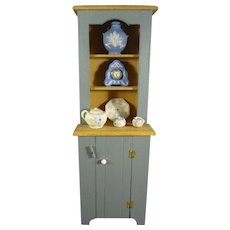 Artist Made Doll House Cupboard and Accessories