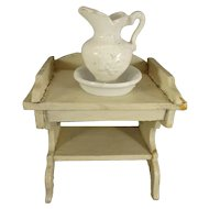 Miniature Wash Stand with Pitcher and Bowl