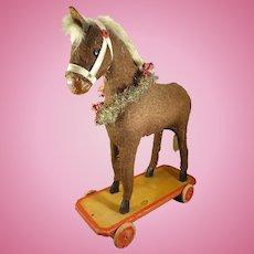Toy Pull Horse on Platform