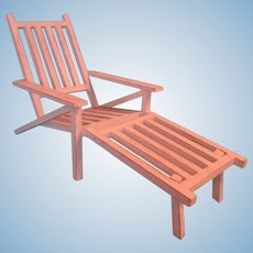 Doll's Wooden Beach Chair