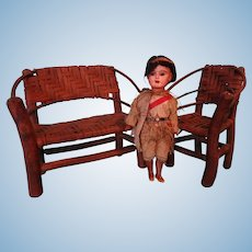 Adirondack Settee and Chair in Doll Scale