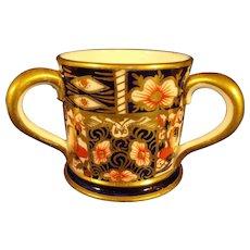 Miniature Royal Crown Derby Loving Cup