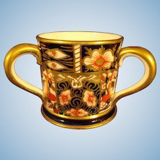 Miniature Royal Crown Derby Loving Cup