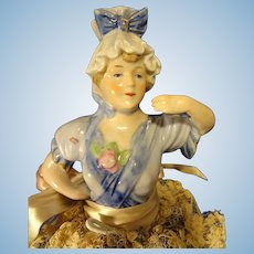 "10"" Porcelain Molded Bodice Doll"