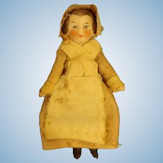 """3"""" All Bisque Hertwig Doll"""