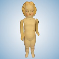 """5"""" All Bisque Doll with Blonde Hair"""