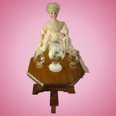 "8"" Simon and Halbig 1160 Doll with Blonde Wig"