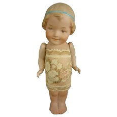 """4 1/2"""" All Bisque Doll with Turned Head"""