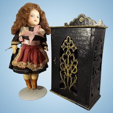 Doll House Cabinet with Fretwork Design