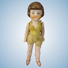 """3"""" All Bisque Flapper Doll by Hertwig"""