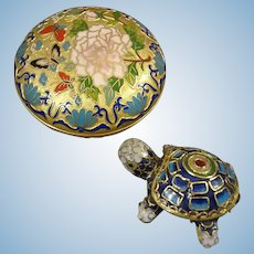 Cloisonne Box and Turtle Box
