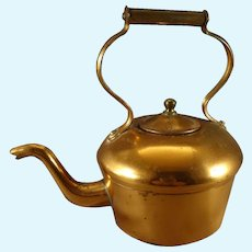 Miniature Copper Teapot with Gooseneck Spout