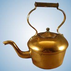 Miniature Copper Teapot with Gooseneck Spout