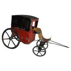 Four Wheel Tin Painted Carriage