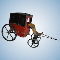 Four Wheel Tin Painted Carriage