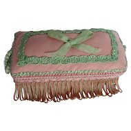 Pink Ottoman for Doll's Boudoir