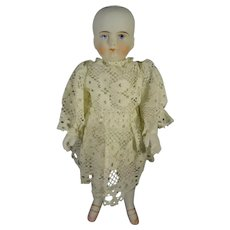 """7"""" All Bisque Doll with Joint Arms and Pink Shoes"""