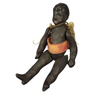 Tiny Black All Bisque Carl Horn Doll