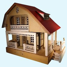 Gottschalk Red Roof Doll House Two Story With Porches