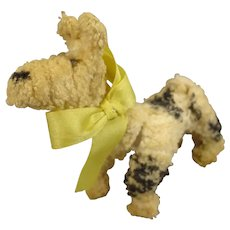 Delightful Chenille Dog for Miniature Display