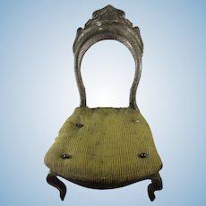 Early Miniature Balloon Back Doll's Slipper Chair