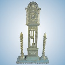 Flat Back Tall Case Clock and Candles in Miniature