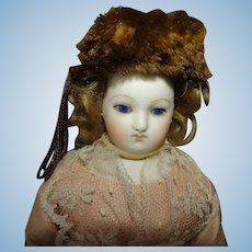 Brown Fur Hat for Fashion Doll