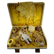 Beautiful Presentaion of Doll and Clothes in Case