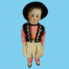 """6"""" Bisque Boy with Glass Eyes Joint Limbs"""