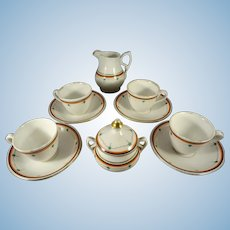 Miniature Porcelain Tea Set in Doll or Child Size