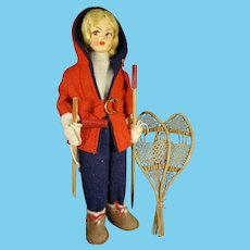 """7 1/2"""" Skier Doll Ready for the Slopes"""