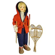 "7 1/2"" Skier Doll Ready for the Slopes"