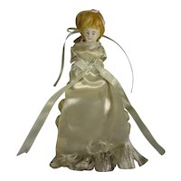 All Bisque Miniature Sewing Doll