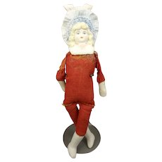 "Lovely 6"" Bonnet Head Doll on Red Body"